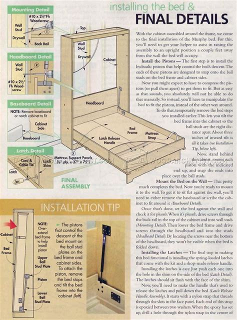 Murphy bed plans easy Image