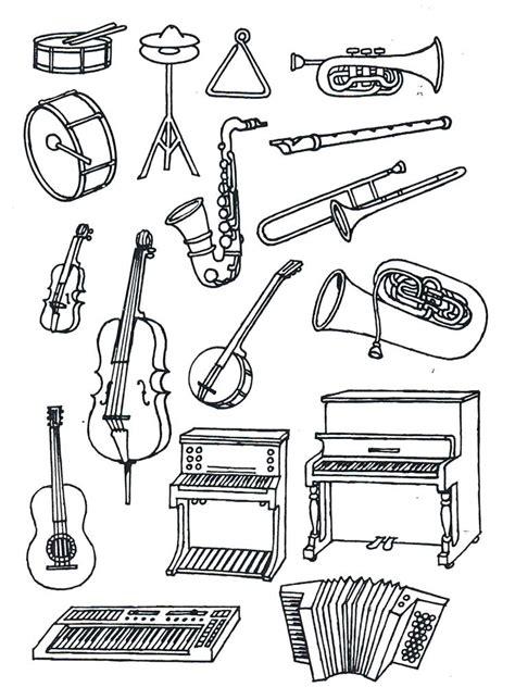 Musikinstrumente Malvorlagen Kostenlos