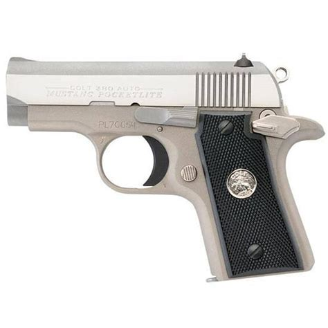 Mustang 380 Acp 2 8 6 Round Nickel Colt Firearms O6891