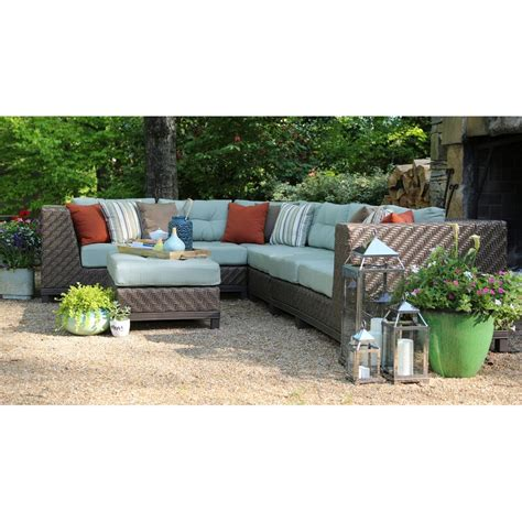 Nabors Patio  Sectional with Sunbrella Cushions