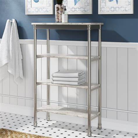 "Nathaniel 24"" W x 38"" H Bathroom Shelf"