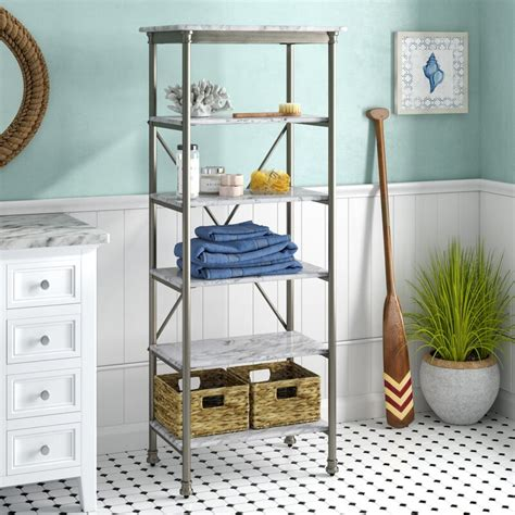 "Nathaniel 24"" W x 60"" H Bathroom Shelf"