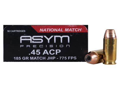 National Match 185 Gr JHP ASYM Precision Ammunition