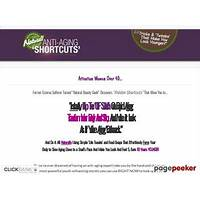 Natural anti aging shortcuts new high converting anti aging offer! free tutorials