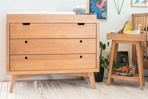 Natural wood baby dresser Image