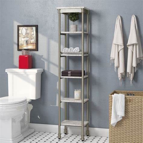 "Nauman 13"" W x 60"" H Bathroom Shelf"