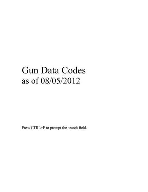 NCIC Gun Code - MAFIADOC COM