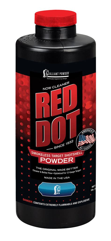 New From Alliant Powder Improved Red Dot And Green Dot