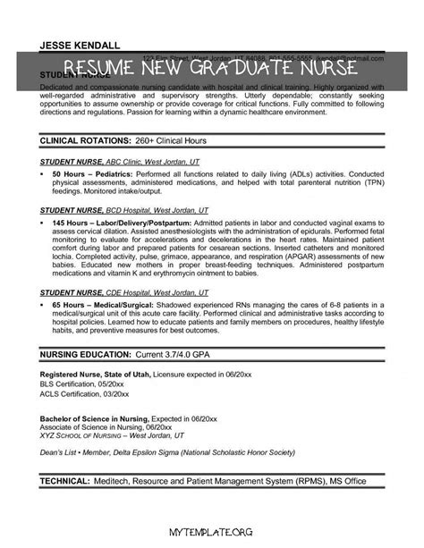 Resume Examples For New Graduates