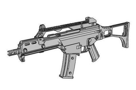 New Paper Craft Full Size Heckler Koch G36C Assault