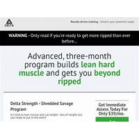 Coupon for new delta strength spartan shred workout