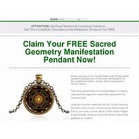 Discount new free shipping funnel manifest abundance pendant
