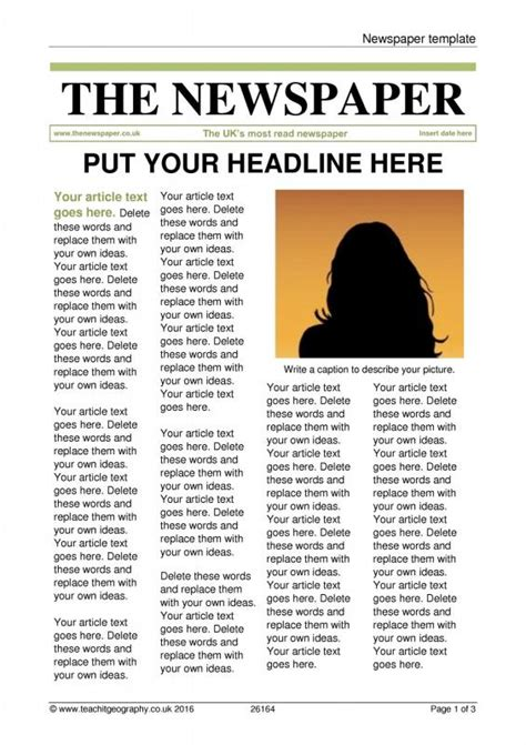 Newspaper Article Template CV Templates Download Free CV Templates [optimizareseo.online]