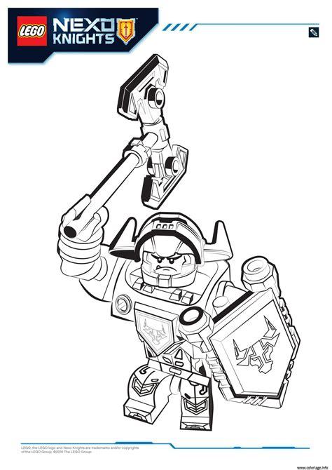 Nexo Knights Ausmalbilder Axl