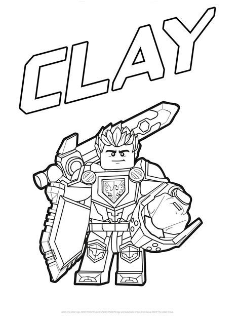 Nexo Knights Ausmalbilder Clay