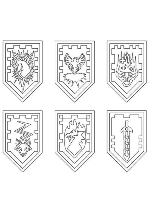 Nexo Knights Schilder Ausmalbilder