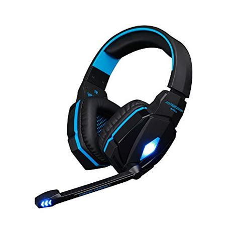 niceeshop(TM) Each Professional 3.5mm Stereo Noise Canelling PC Laptop Gaming Headset Headphone with Microphone HiFi Driver (Black Blue)