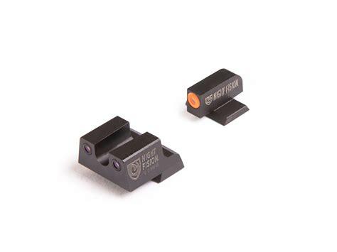 Night Fision Perfect Dot Tritium Night Sights For Canik Canik Tp9sf Elitetp9sa Orange Front Black U Notch Rear