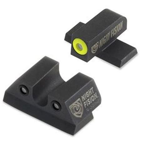 Night Fision Perfect Dot Tritium Night Sights For Sig Sauer Sig Sauer P Series 4045 Yellow Front Black U Notch Rear