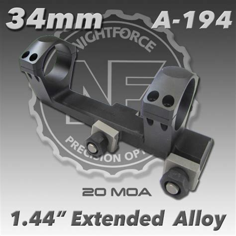 Nightforce A257 1 44 20moa 34mm Unimount Mile High