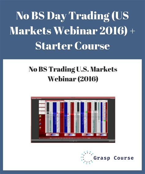 No Bs Day Trading Webinar