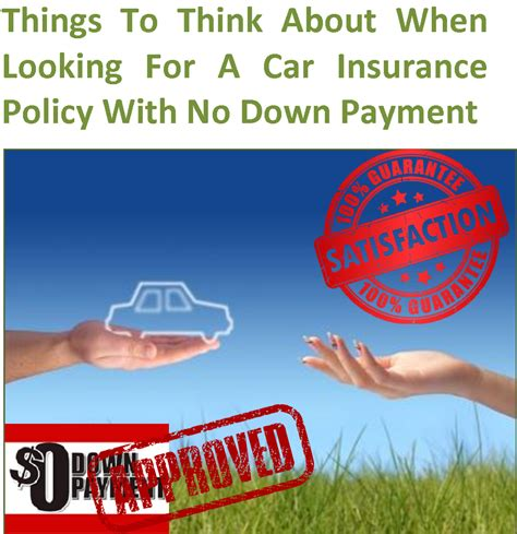 No Down Payment Car Insurance In