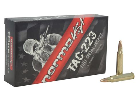 NORMA TAC AMMO 223 REMINGTON 55GR FMJ AMMO CAN Brownells
