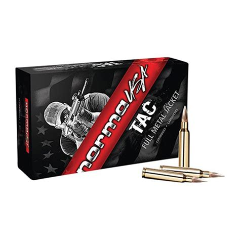 Norma Tac Ammo 308 Winchester 150gr Fmj - Ammohead