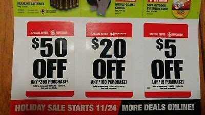 Northern Tool Coupons 5 Off 15 Coupon