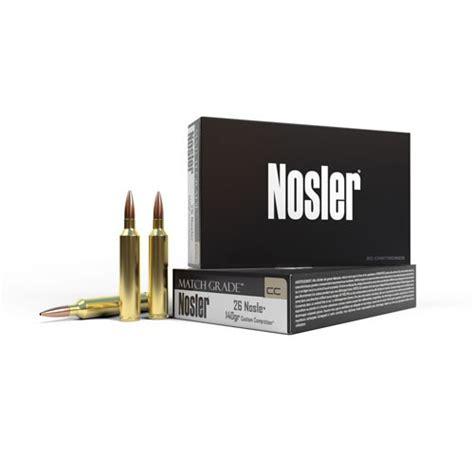 Nosler Match Grade 26 Nosler Ammo 26 Nosler 140gr Custom Competition Spitzer 20box