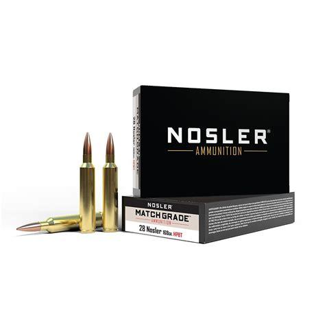 Nosler Match Grade 28 Nosler Ammo 28 Nosler 168gr Custom Competition Spitzer 20box