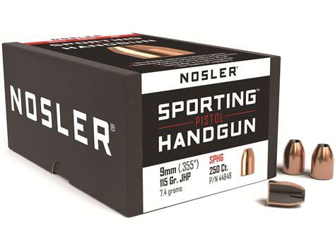 Nosler Sporting Handgun Bullets 9mm