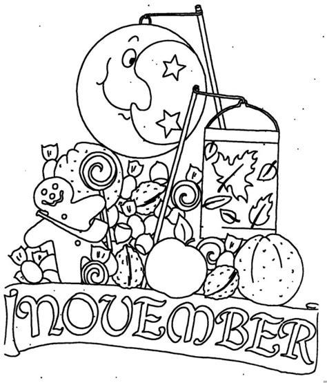 November Malvorlagen English