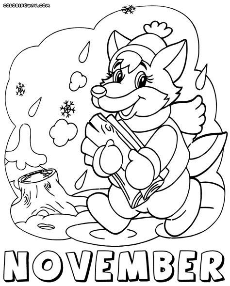 November Malvorlagen Gratis