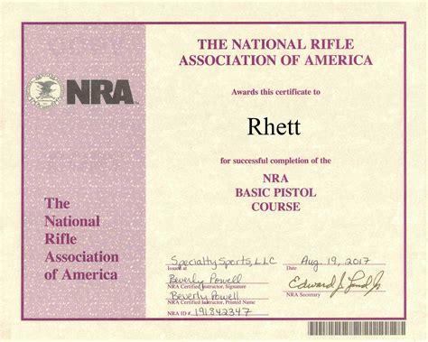 Nra Handgun Certification