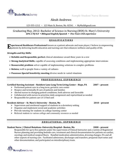 Nurse Resume With Clinical Experience Thank You Letter Job Rejection
