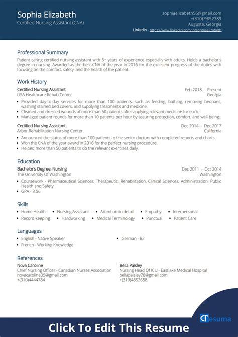 Nursing Resume With No Experience Free Executive Resume