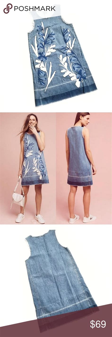 ecfba47bf5a7 Nwt Anthropologie Holding Horses Denim Dress- Size Xs - Sears.