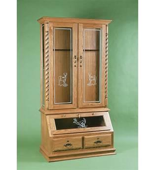 Oak Gun Cabinet Plans
