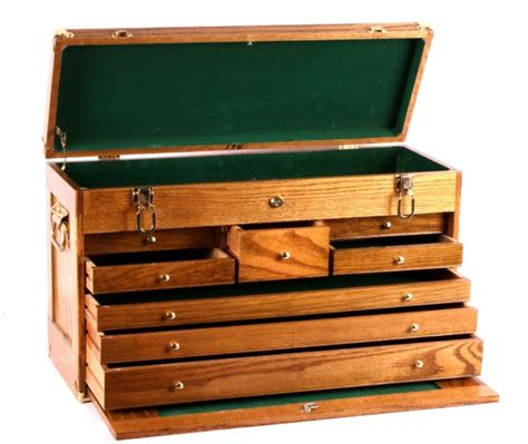 Oak machinist tool chest Image