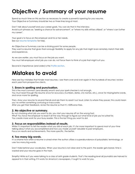 Objective Meaning In Resume CV Templates Download Free CV Templates [optimizareseo.online]