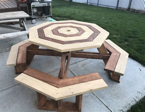Octagonal picnic table plans Image