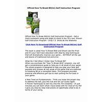 Official how to break 80(tm) golf instruction program guides