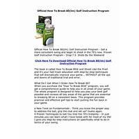 Official how to break 80(tm) golf instruction program secret