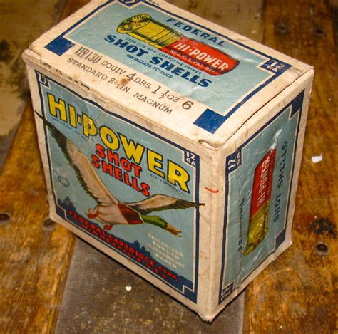 Old Federal Shotgun Shell Boxes For Sale
