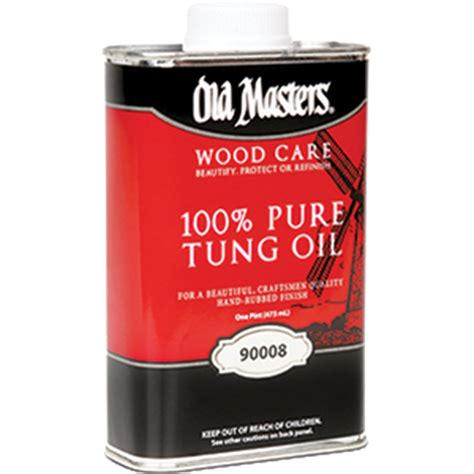 Old Masters 90008 Pt 100 Pure Tung Oil - 6ct Case