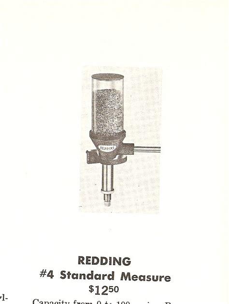 Old Redding Standard Powder Measure Shooters Forum