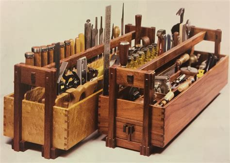 Old fashioned wooden tool box plans Image