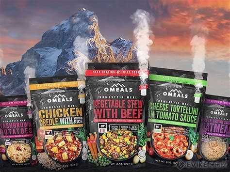 OMEALS Self Heating Fully Cooked Homestyle Meals Menu