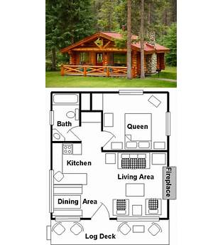 One Bedroom Small Log Cabin Plans Free